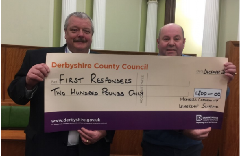 Cllr Bull (First Responders Cheque)